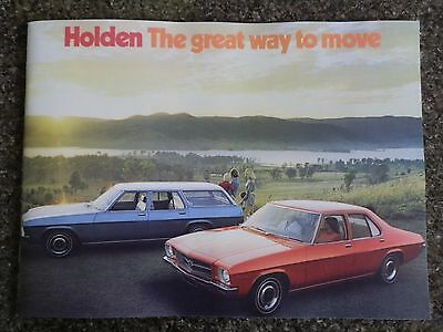 Holden 1973 Hq Sales Brochure 100% Guarantee.