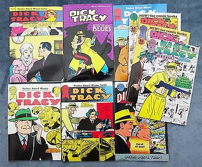 Lot Of 9 Dick Tracy Blackthorne Reprints 1988 Please Take A Good Look!