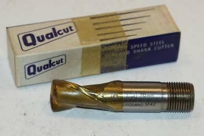 "2 New Qualcut 15//32/"" No4000 HSS End Mill UK Made 1//2/"" Shank 3-flute"