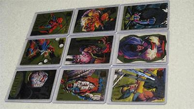 1995 Marvel Fleer Ultra X-Men Complete Hunters & Stalkers Gold Card Set 9 Mint