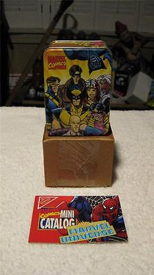 "MARVEL COMICS COLLECTORS METALTINS X-MEN TIN SIZE 4"" x 3"" x 2"" 1994 NABISCO NIB"