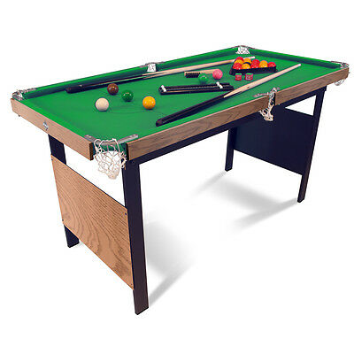 4ft Pool and Snooker Table, Indoor Games Table with Pool and Snooker Balls