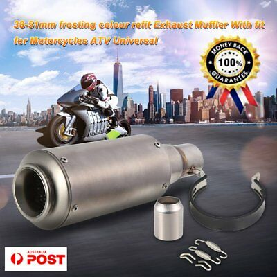 Universal 38-51mm Frosting Color Refit Exhaust Muffler Pipe For Motorcycles ATV