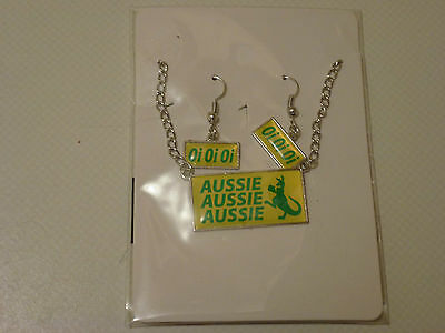 Children's Aussie Necklace & Earrings. New