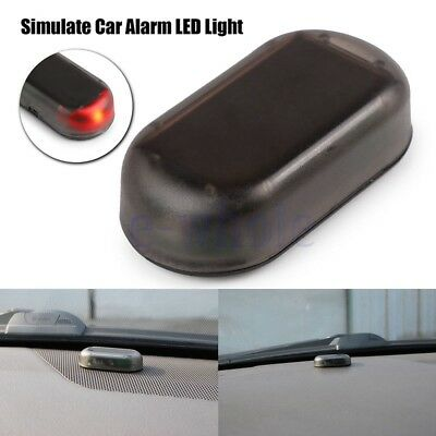 Solar Coche LED Simulado Alarma Antirrobo Advertencia Luz Parpadeo Lámparas BC