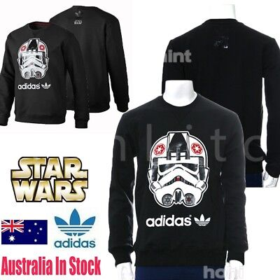 %Adidas Star Wars Sports Stormtrooper Sweater Pullover Jumper Sweatshirt Black