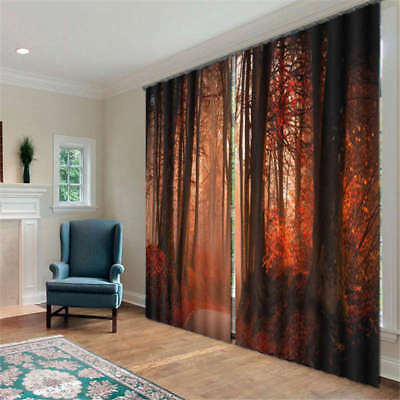 Scenery Mangrove Forest Wood 3D Curtain Blockout Photo Printing Curtains Drape