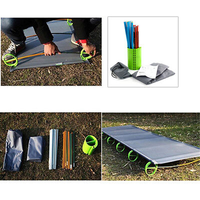 Folding Camping Bed Stretcher Ultralight Camp Cot Portable Bag AU Fast Ship