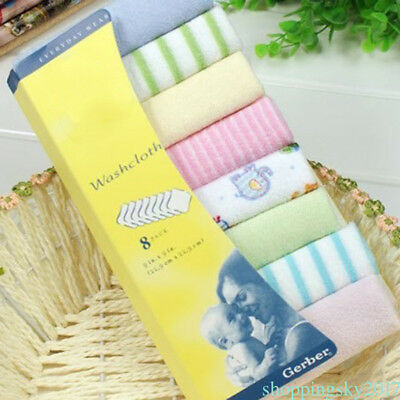 Baby Kids NewBorn Gauze Muslin Cotton Bath Wash Handkerchief Towels New