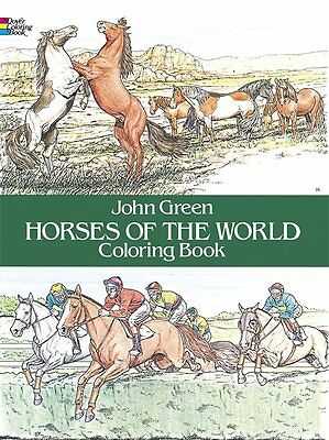 Horses of the World Adult Colouring Book Art Therapy 9780486249858