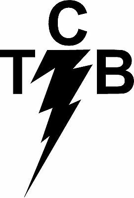 Elvis TCB (Taking Care of Business) Decal / Sticker for iPhone 2.5 inches high.