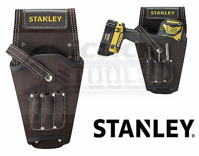 Stanley Leather Belt Mounted Drill Holster Left or Right STST1-80118 SUEDE