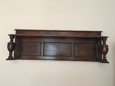 large victorian walnut wall shelf antique  solid wood decorative feature