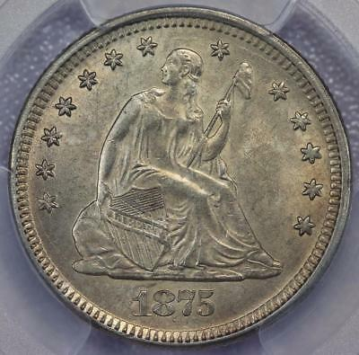 1875 Seated Liberty Quarter PCGS MS62 - Uncircluated - *DoubleJCoins* 598A13