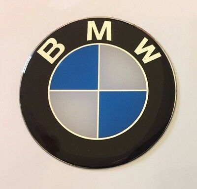 BMW Sticker/Decal - 30mm DIAMETER HIGH GLOSS DOMED GEL FINISH