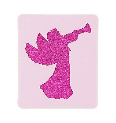 Trumpeting Xmas Angel Face Painting Stencil 6cm x 7cm Washable Reusable