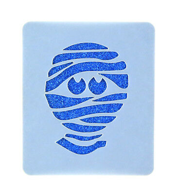 Mummy Face Painting Stencil 6cm x 7cm 190micron Washable Reusable