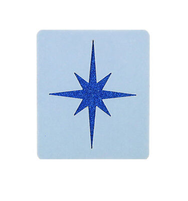 Christmas Star Face Painting Stencil 6cm x 7cm 190micron Washable Reusable