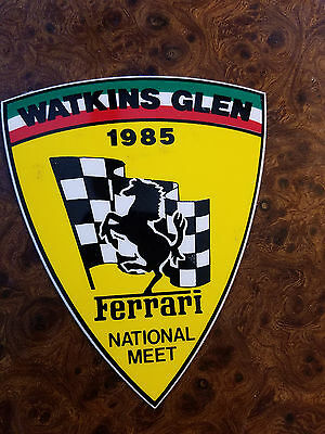FERRARI Club of America 1985 Watkins Glen Annual Meet Sticker Decal
