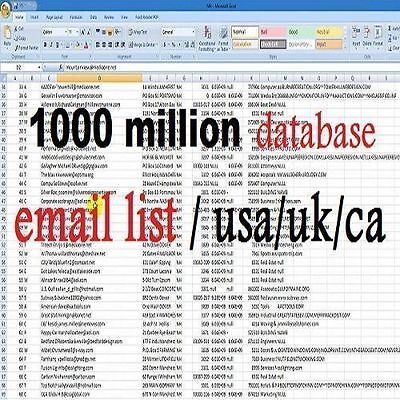 1000 Million Database Email Marketing List (new active 2017)&Free Sending Method