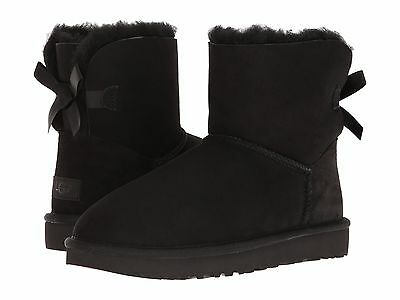 Women's Shoes UGG Mini Bailey Bow II Boots 1016501 Black *New*