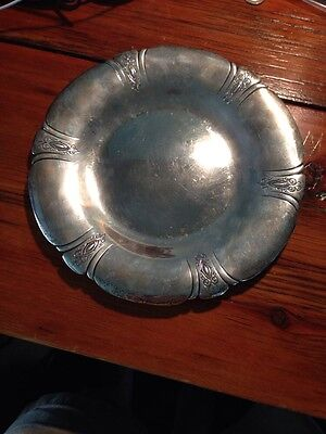 Vintage 10 Inch Sterling Silver Lady Diana Pattern By Towle Serving Plate 14 Ozt