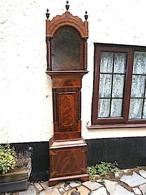 Emptey Mahogany Grandfather Longcase Clock Case C1840