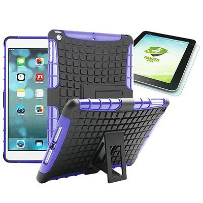 Hybrid Outdoor Protective Case Purple for iPad Air 1 Bag + 0.4 H9 mm