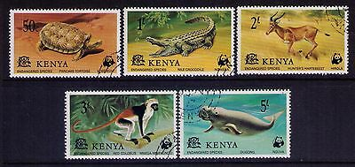 KENYA Stamps SC# 89-93 Wildlife-Endangered Species,Cpl.Used Set
