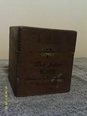 Vintage Cigar Box 1930's?  Don Julian The Aristocrat of Tampa Wood - Original SF