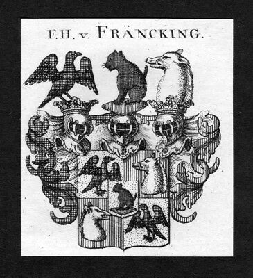 1820 - Fräncking Franking Francking Wappen Adel coat of arms heraldry Heraldik
