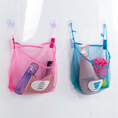 Bathroom Organiser Babys Toys Storage Mesh Bags Net Suction Hanging Bags New