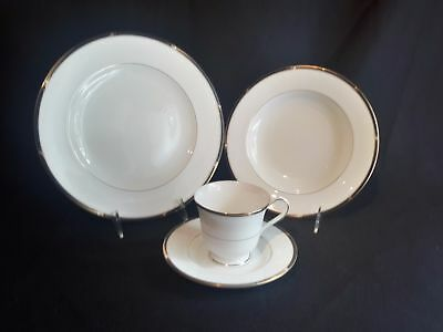 Mikasa Academy CAH05  Set of Cup & Saucer, Rim Soup Bowl and Dinner Plate