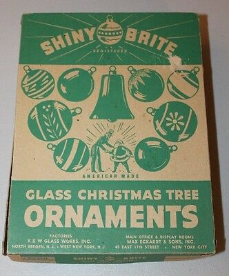 "Shiny Brite Vintage Glass 2.25"" Round Ball Ornaments Pink Set/12 in Box VGUC"