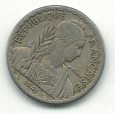 Higher Grade 1941 S South Vietnam Indo China 10 Cents Coin-Agt115