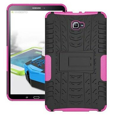 Hybrid Outdoor Case Shocking Pink for Samsung Galaxy Tab A 10.1 T580 T585 Cover