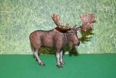 Schleich Brown Bull Moose in Standing Position Figure  2009