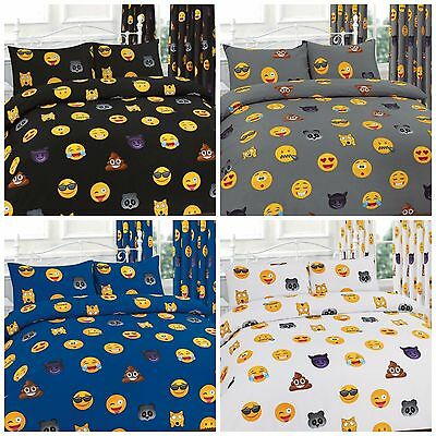 New Emoji Icon Emotions duvet set with Pillowcase  Duvet Cover Smiley Faces