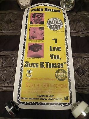 Peter Sellers * I Love You Alice B Toklas * Australian  Movie Poster 13X30