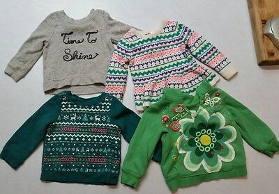 Baby girl 12 months Lot of 4 sweaters