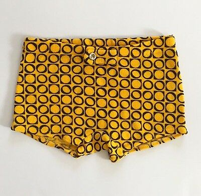 Deadstock Mustard Yellow Vintage Boys' Bathing Suit Swimtrunks 8 FREE SHIPPING