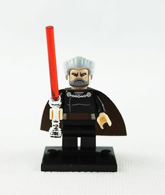 Count Dooku Star Wars Minifigure Custom toy movie Clone Wars cartoon TV Show
