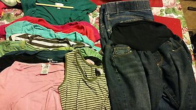 23 piece lot of Maternity Clothes, Medium/Large.  Great for summer