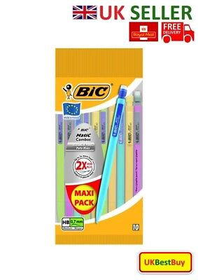Brand New High Quality Bic Matic Mechanical Pencils Pack of 10 - UK SELLER