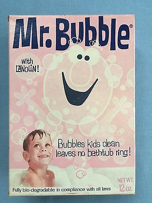Mr. Bubble 1970 Full Unopened Box Vintage Bubble Kids Clean Bath Item