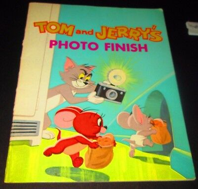 1974 Tom And Jerry's Photo Finish Golden Story Book Metro-Goldwyn-Mayer