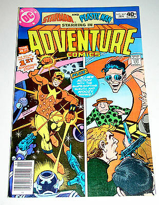ADVENTURE COMICS #467  1st APPEARANCE OF THE NEW STARMAN - STEVE DITKO