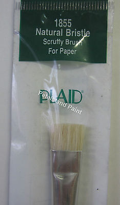 "Plaid 1/2"" Paint Brush Natural Bristle Scruffy Paintbrush for Paper Stipple 1855"
