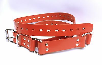 Genuine Full Grain RED Leather Hobble Restraint Belt AUSSIE Wrist Ankle & Collar