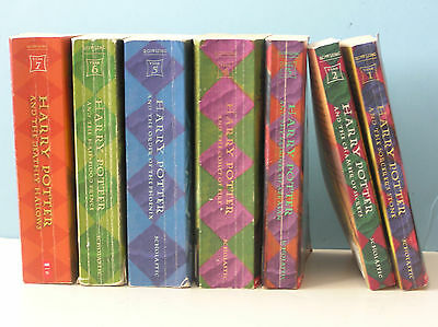 Set of 7 - Harry Potter Books by JK Rowling Books 1-7 (Paperbacks)